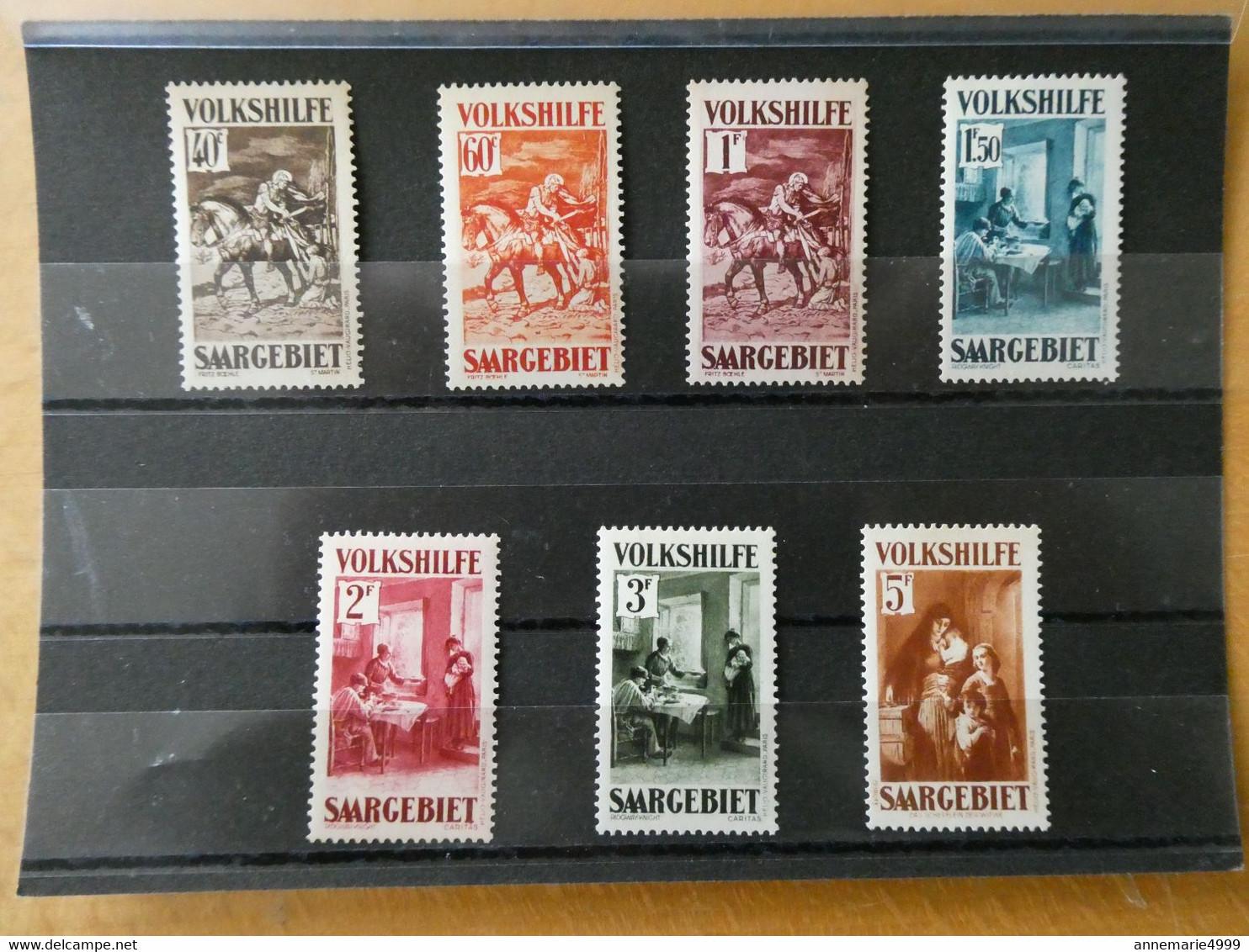 SARRE Neufs Sans Charnière Poste N° 148 à 154 Cote 700 € - Colecciones & Series