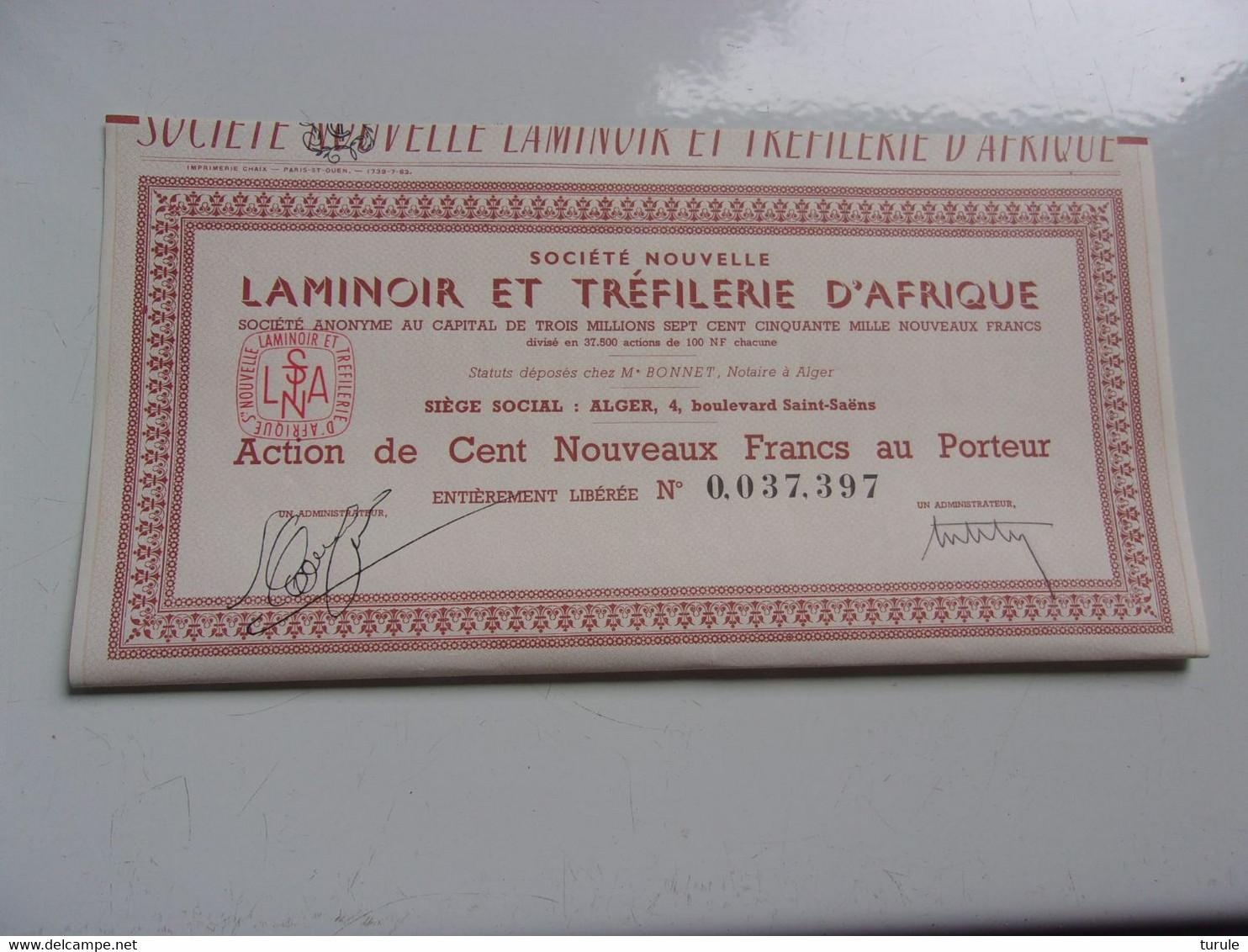 LAMINOIR ET TREFILERIE D'AFRIQUE (alger,algerie) - Unclassified