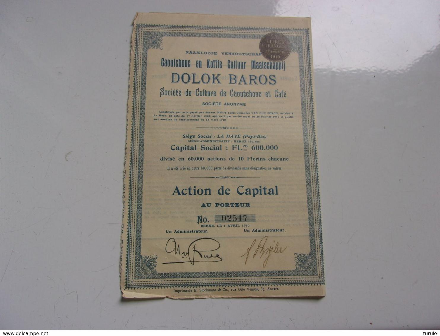 DOLOK BAROS Caoutchouc,café (action De Capital) - Unclassified