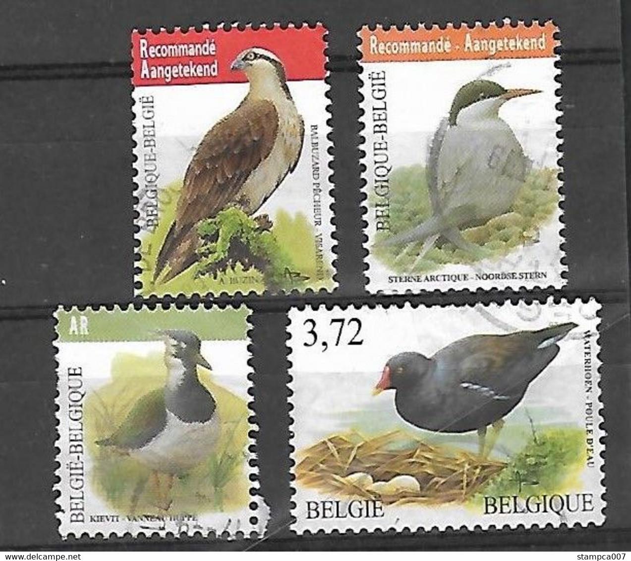 OCB Nr 4090 Visarend + 4306 Stern + Kievit + Waterhoen  Set  Buzin Fauna - Usati