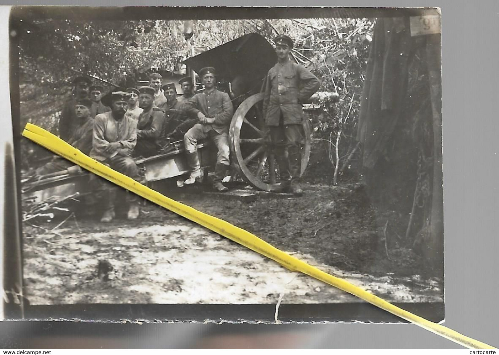 02 118 MONTBERAULT CANON SOLDATS ALLEMANDS  MAI 1918 - Other Municipalities