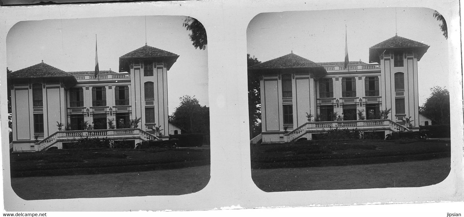 Lot 58 Plaques De Verre Photo Stéréo Positives Asie Cambodge Prey Veng Phnom Penh Circa 1920 MP - Old (before 1900)