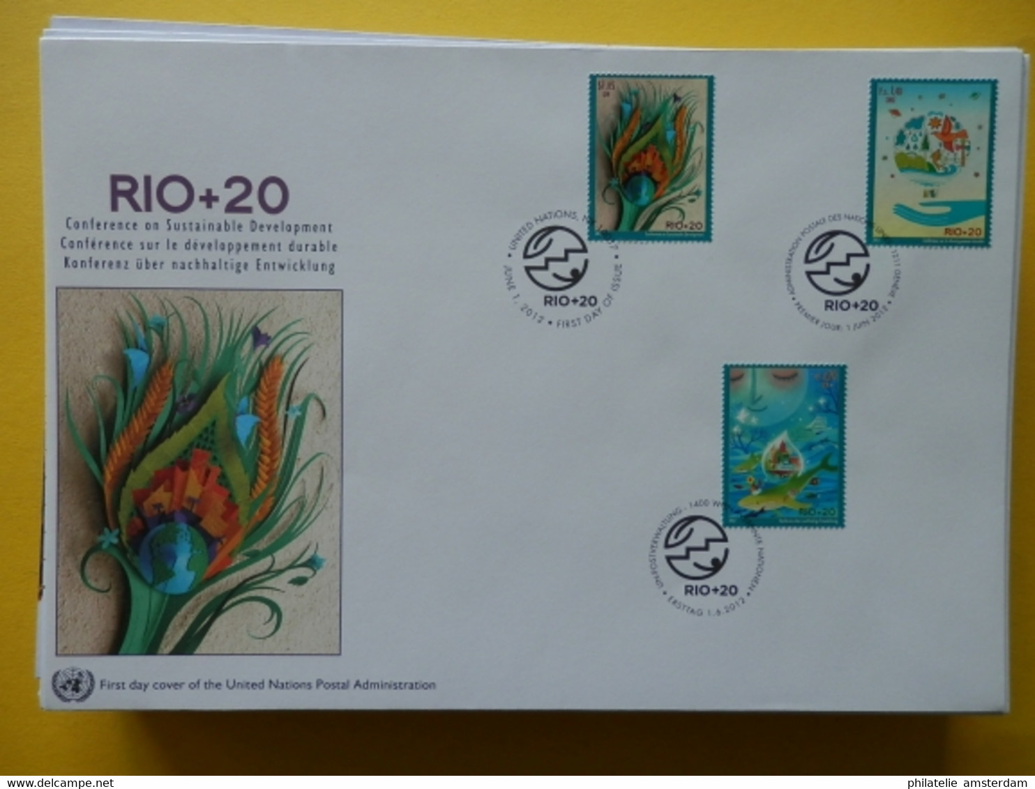 Start 1 EURO - United Nations First Day Covers (large Format) 2011-2017 - UNO