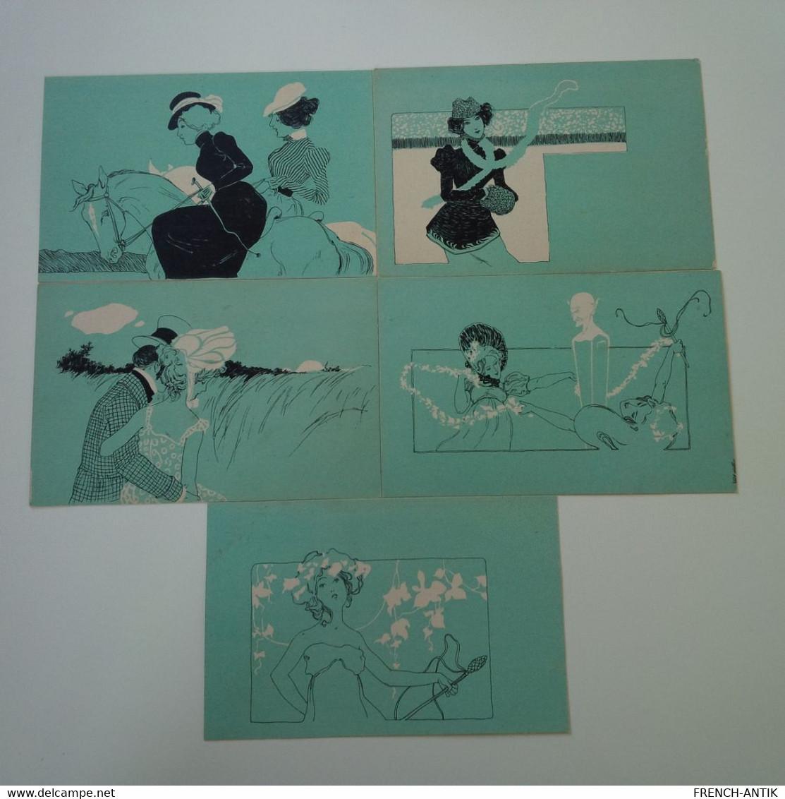 ILLUSTRATEUR RAPHAEL KIRCHNER VIENNE TURQUOI SERIE DE 10 CARTES RARE - Kirchner, Raphael