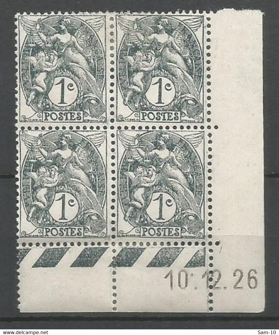 Coins Date France   Neuf * N 107 Année 1926 Charnier En Haut - ....-1929