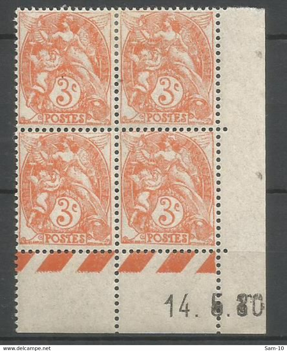 Coins Datés De France Neuf *  N 109  Année 1930  Charnière En Haut - ....-1929