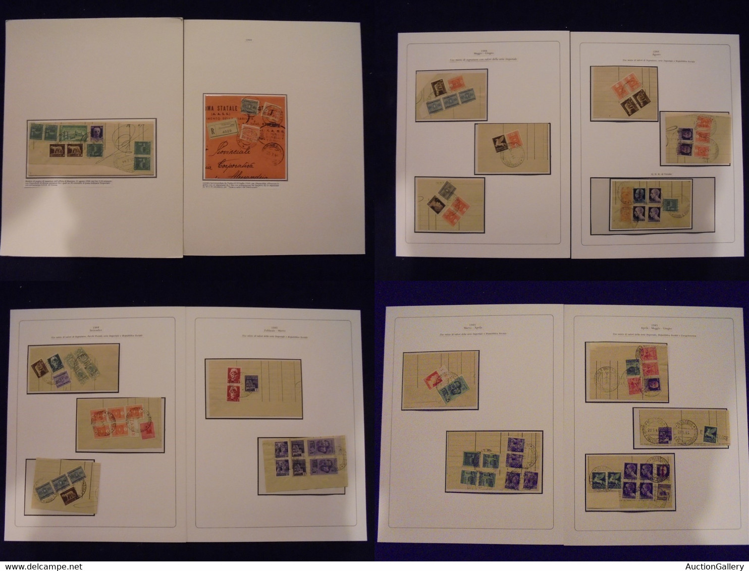 VARIE - 1944/1945 - Mantova - Moduli Di Scarico Di Tassazioni - 43 Frammenti Con Varie Tassazioni Miste Di Ordinari + Pa - Unclassified