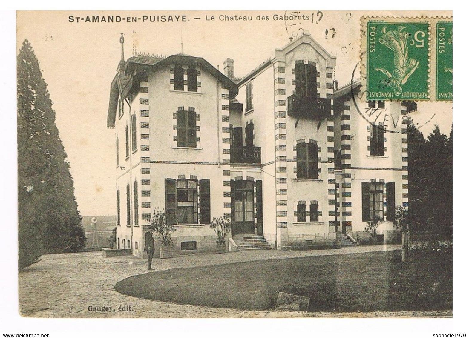 06- 2021 - SELECT - NIEVRE - 58 - SAINT AMAND EN PUISAYE ( Le Château Des Gaborets - Saint-Amand-en-Puisaye