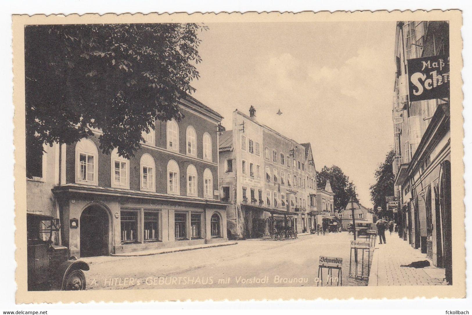 Ansichtskarte A. Hitlers Geburtshaus Mit Vorstadt Braunau A. Inn Sonderstempel 20. April 1939 Braunau Geburtstag - Other