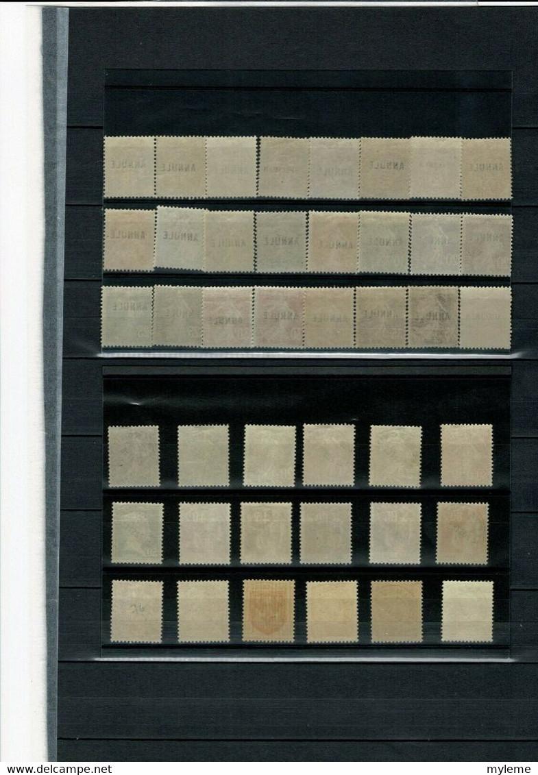 U000 Carton Dont Cours D'instruction** , Préos ** Et FM En Bloc De 4 ** Côte 2400 Euros ..Voir Commentaires !!! - Lots & Kiloware (mixtures) - Min. 1000 Stamps