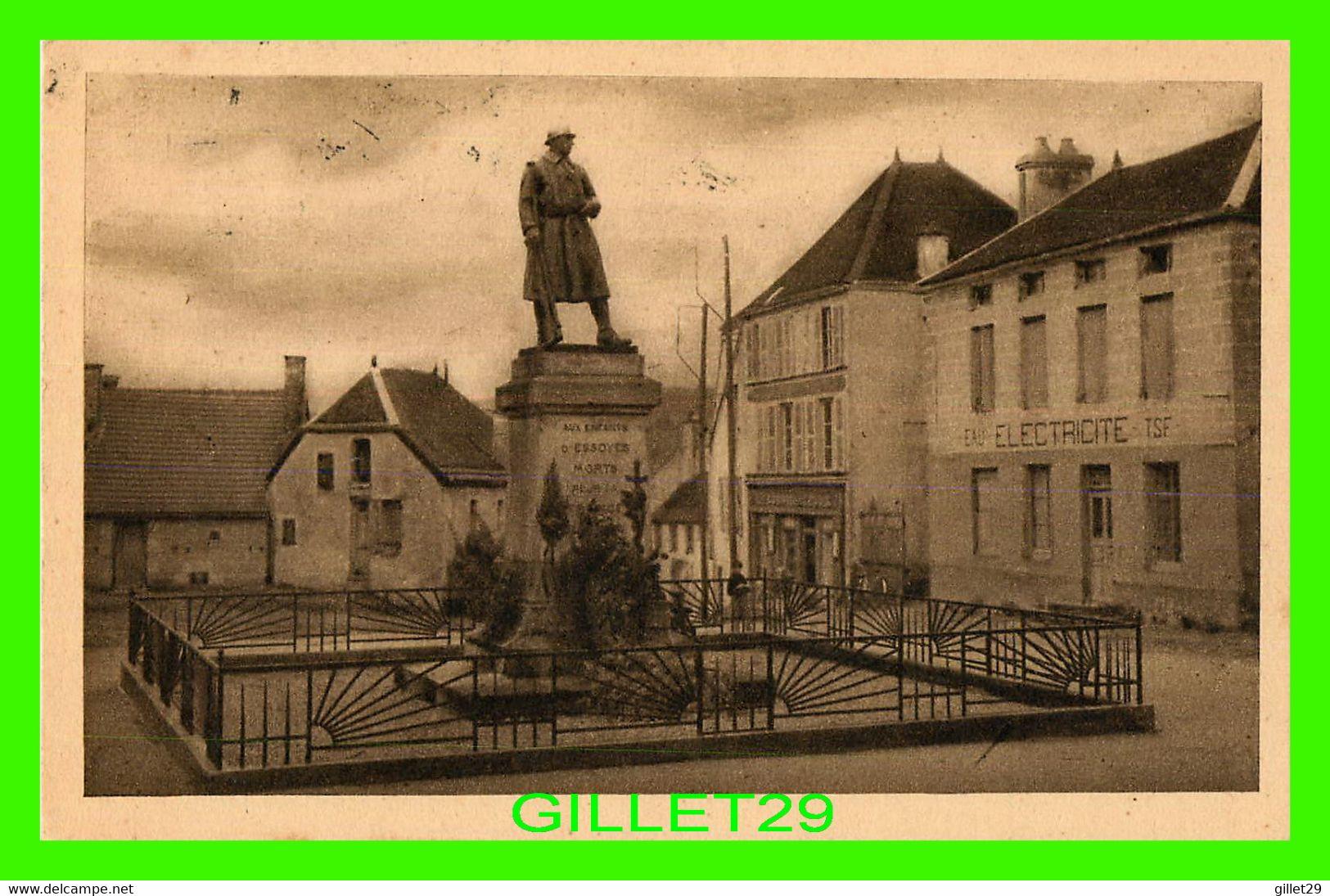 ESSOYES (10) - LE MONUMENT AUX MORTS, PLACE DU GÉNÉRAL DE GAULES - CIRCULÉE EN 1947 - ED. PINTRAND - - Essoyes
