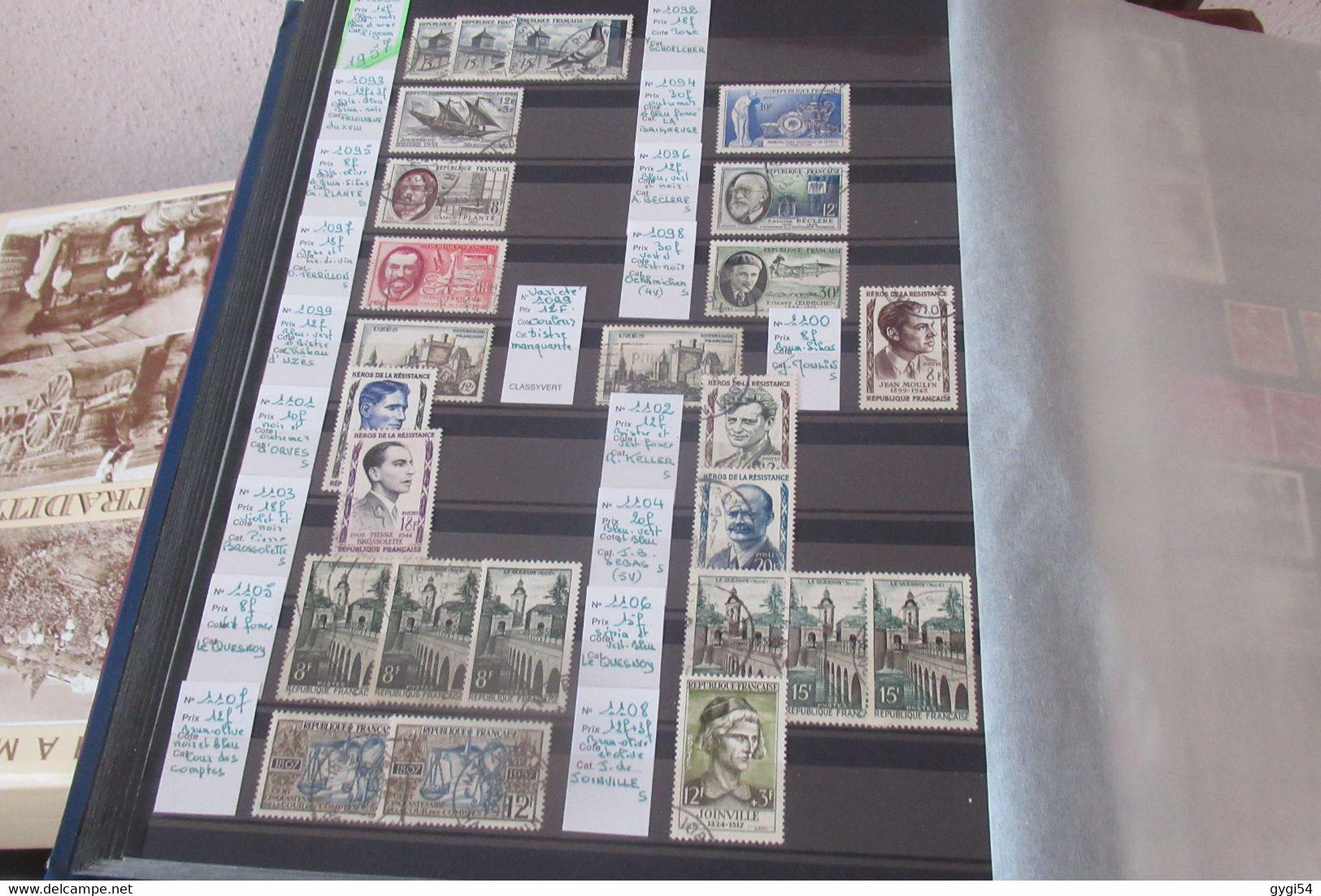 France  1943 - 1967 Belle Collection De Timbres Oblitérés  De Qualité Très Forte Cote - Collections (with Albums)