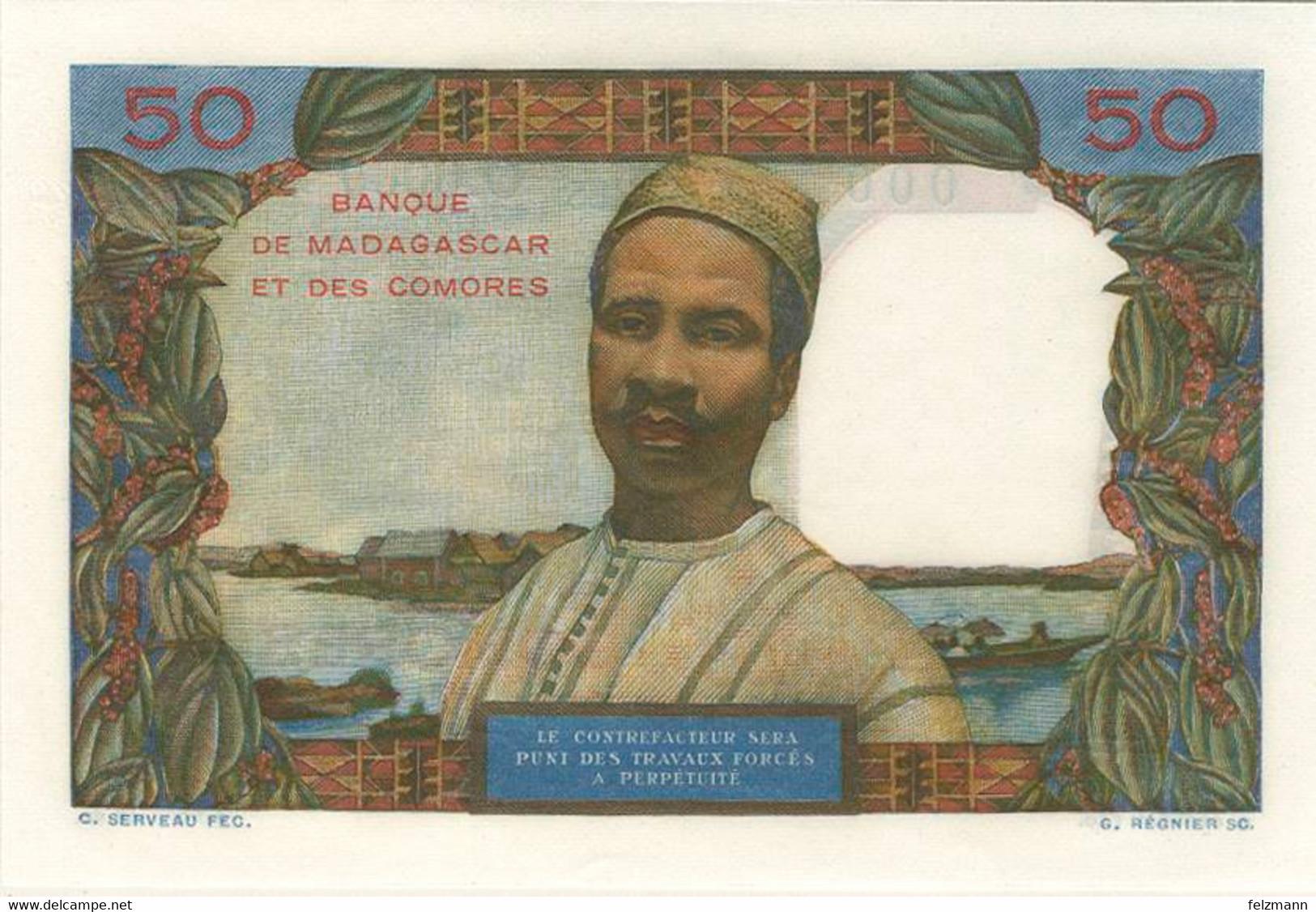 50 Francs, O.D., Specimen, WPM 2 Bs, I - Madagascar