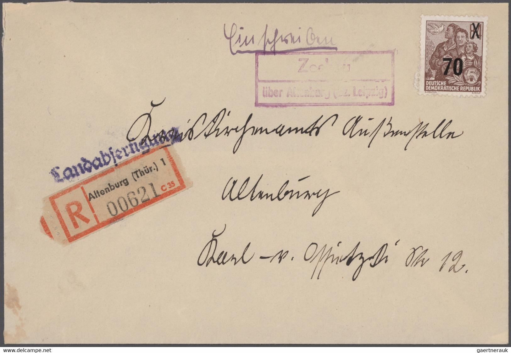 Deutschland Nach 1945: 1945/1970 Ca., Die KRAFTPOST In Ost- U. Westdeutschland, Interessante Ausstel - Collections