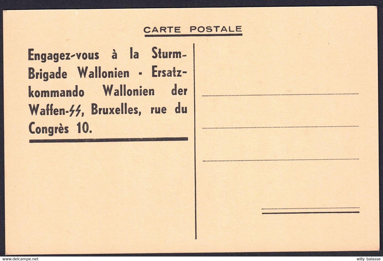 """+++ CPA  Politique - Propagande - """" Brigade Wallonie """" - Croisade Antibolchevique - Waffen SS - Militaria - Degrelle  // - Political Parties & Elections"""