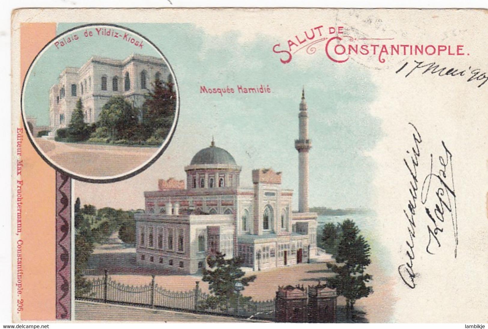 Deutsches Reich Turkei Postkarte 1901 - Offices: Turkish Empire