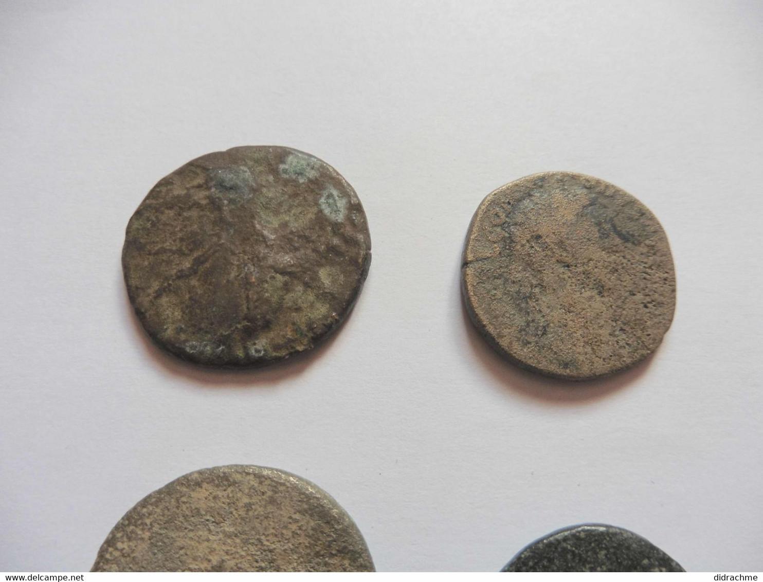 Lot 4 Sesterces Bronze Romain  (romaines) à Id.  Paypal Possible - Unclassified