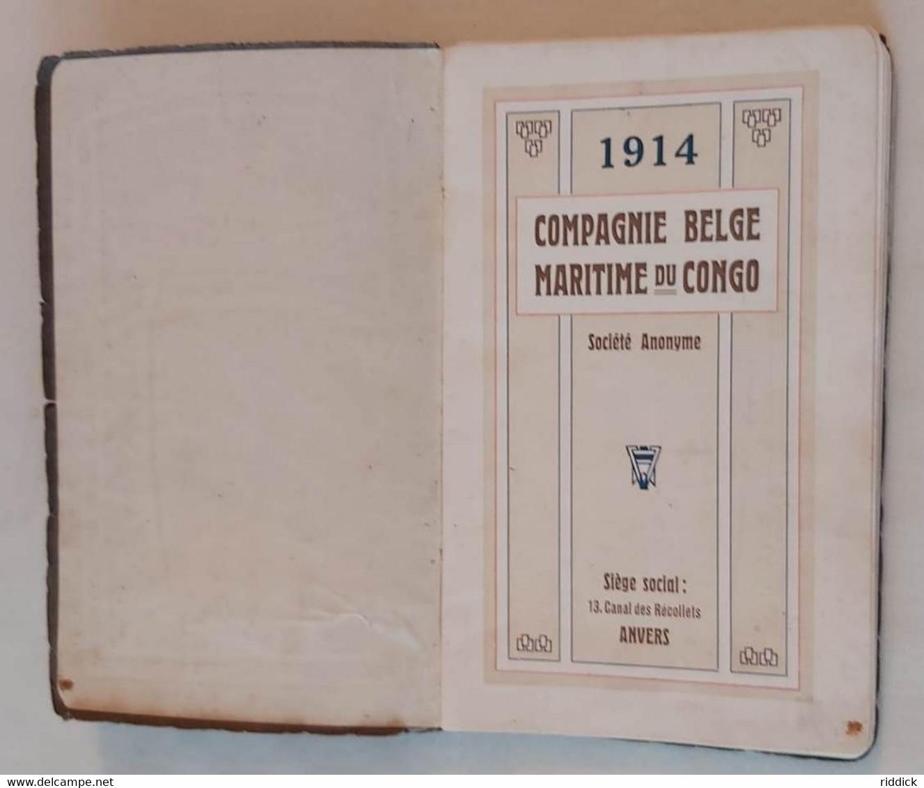 """Livret PAQUEBOT 1914 """"Compagnie Belge Maritime Du Congo """" Bon état Complet Avec Cartes Et Plans Bateaux Introuvable!!!! - Documentos Históricos"""