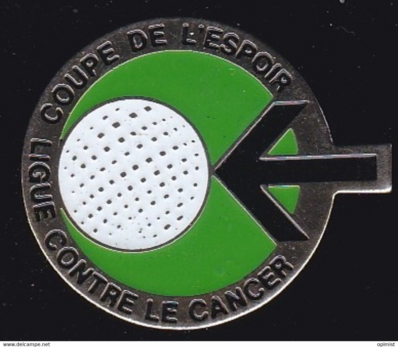 71224- Pin's.Ligue Cotre Le Cancer.Golf. - Golf