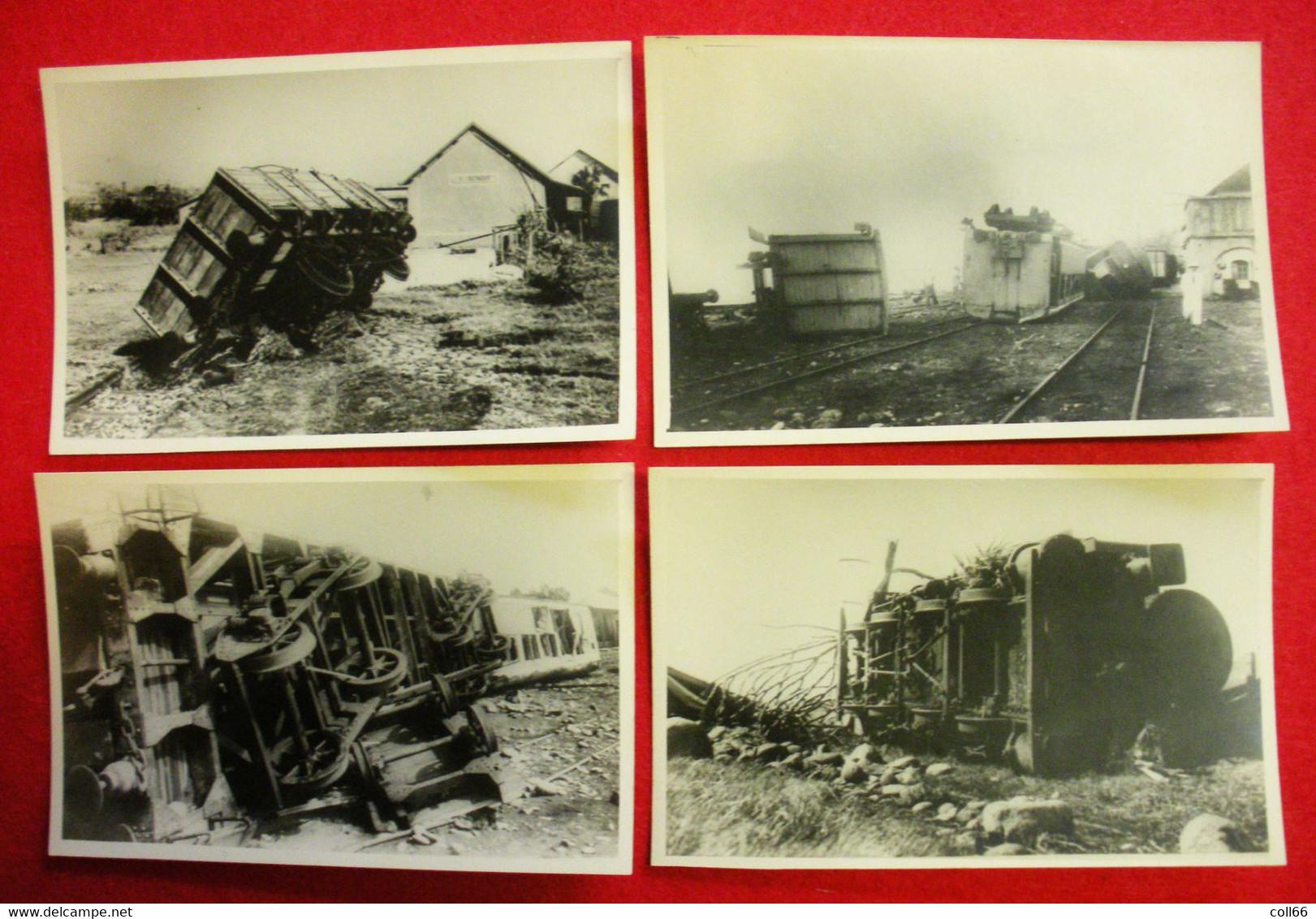 Catastrophe Ile De La Réunion Cyclone Du 26- 27 Janvier 1948 Lot 12 Photos Format De La Cpa 14x9 Cms Gare St Benoit Etc - Other
