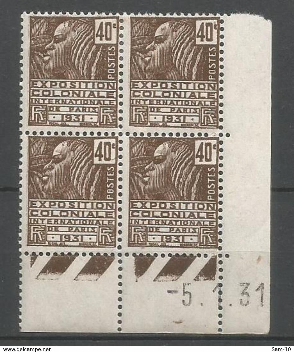 Coins Datés De France Neuf *  N 271  Année 1931  Charniere  En Haut - 1930-1939