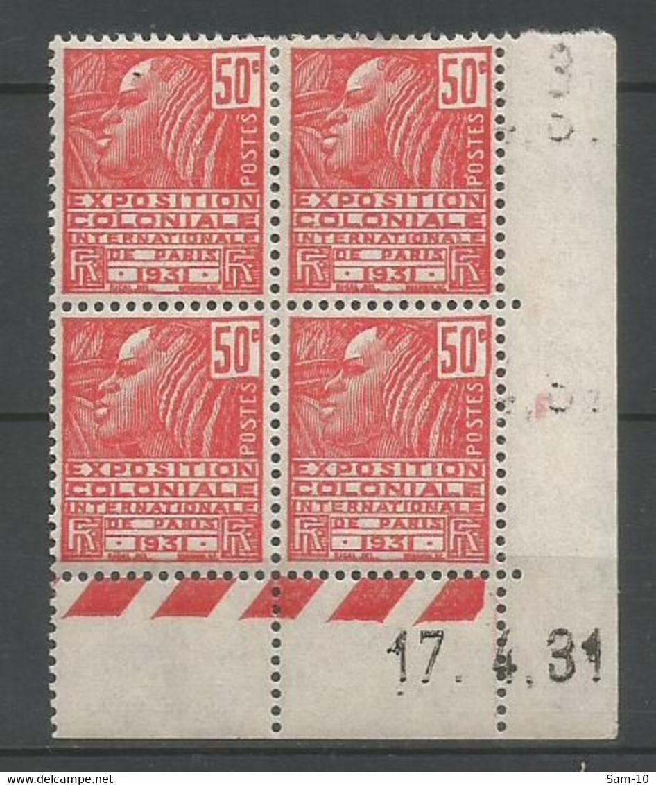 Coins Datés De France Neuf *  N 272  Année 1931  Charniere  En Haut - 1930-1939