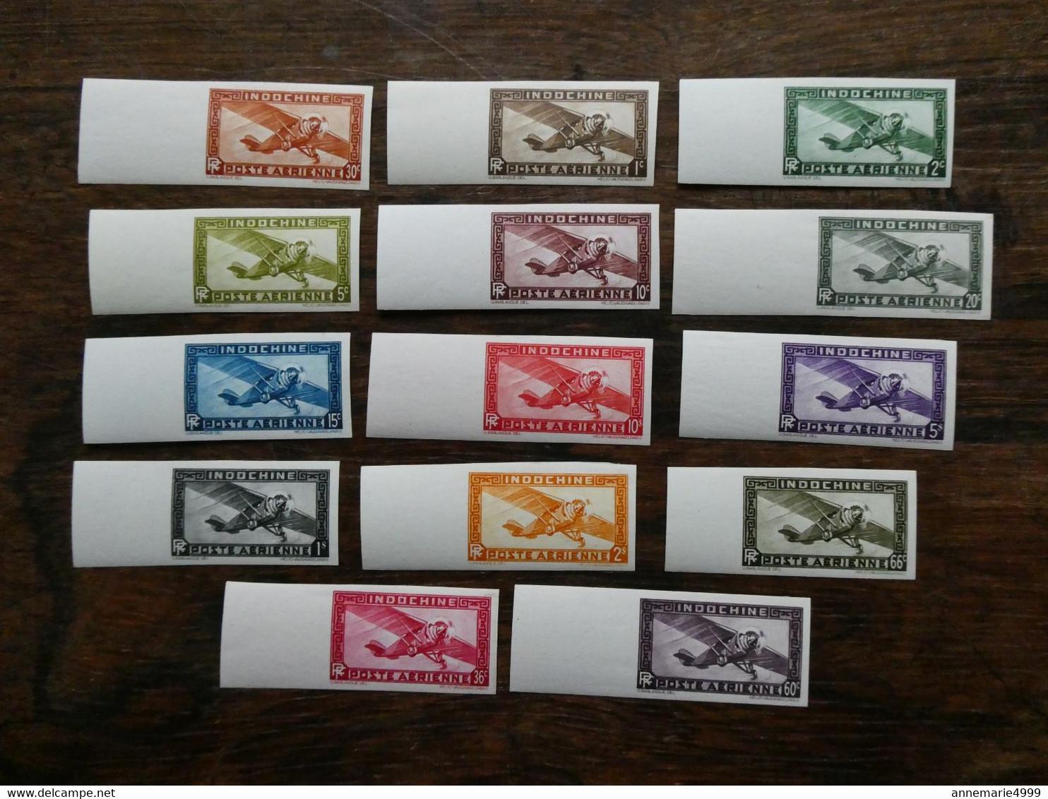 INDOCHINE Poste Aérienne N° 1 à 14  Complète  NON DENTELES Très Beau Neufs Sans Charn  MNH RARE - Unused Stamps