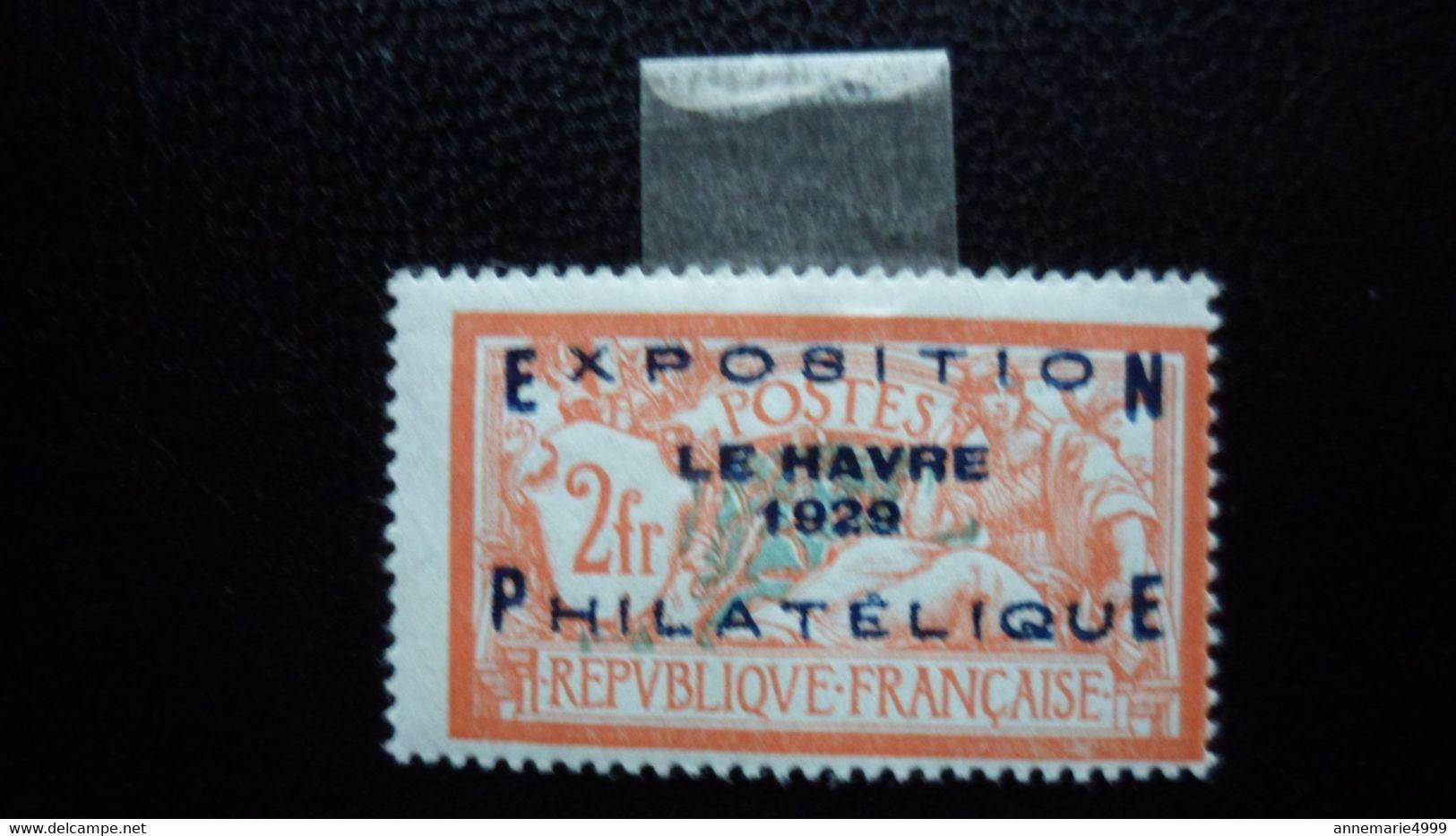 FRANCE Exposition LE HAVRE 1929   Neuf Avec Charnière   Signé Calves  Voir 2 Scans - Other