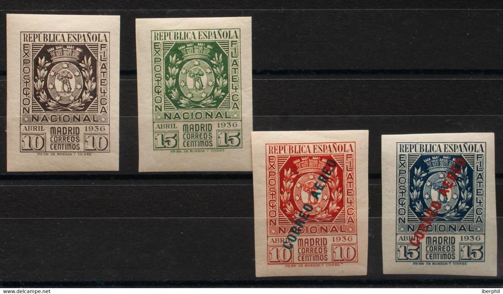 **/*727/28, 729/30. 1936. Dos Series Completas (el 15 Cts Azul Con Fijasellos). MAGNIFICAS. Edifil 2021: +490 Euros - Non Classificati