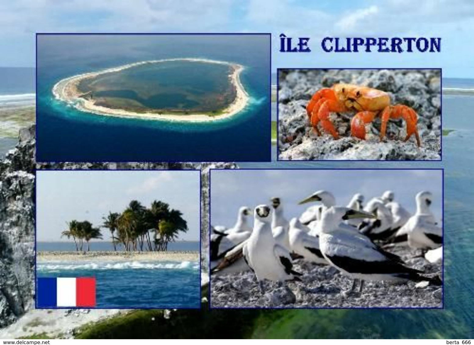 Clipperton Island Multiview New Postcard - Andere