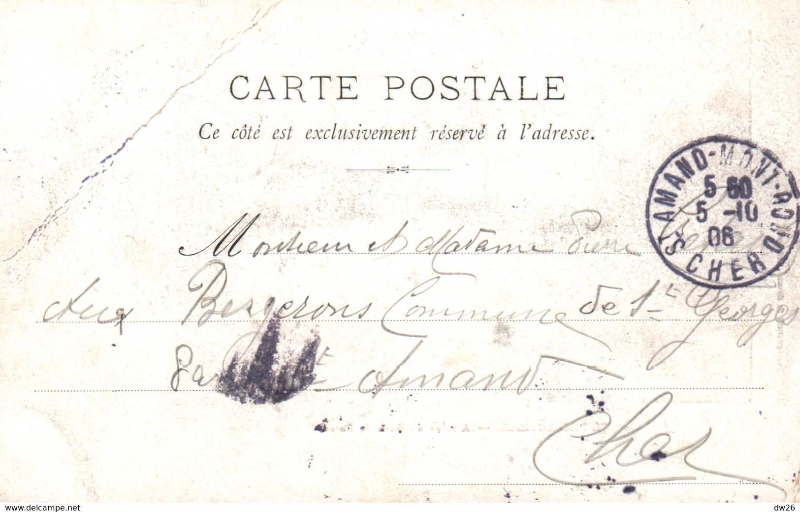 Contrexeville (88) Arrivée Du Shah De Perse (d'Iran) à La Gare En 1906 - Photogravure G. Chassel - Carte Dos Simple - Vittel Contrexeville