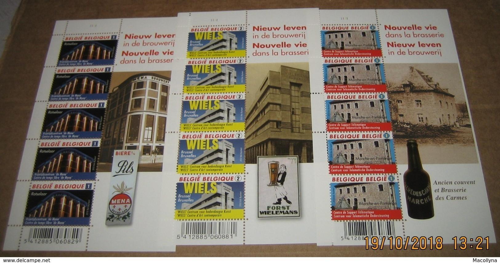 4061/62/63** Nieuw Leven In De Brouwerij** BF Nouvelle Vie Dans La Brasserie MNH Pl 1 Pils Mena / Wiels Etc..PL 1-1-1 - Panes