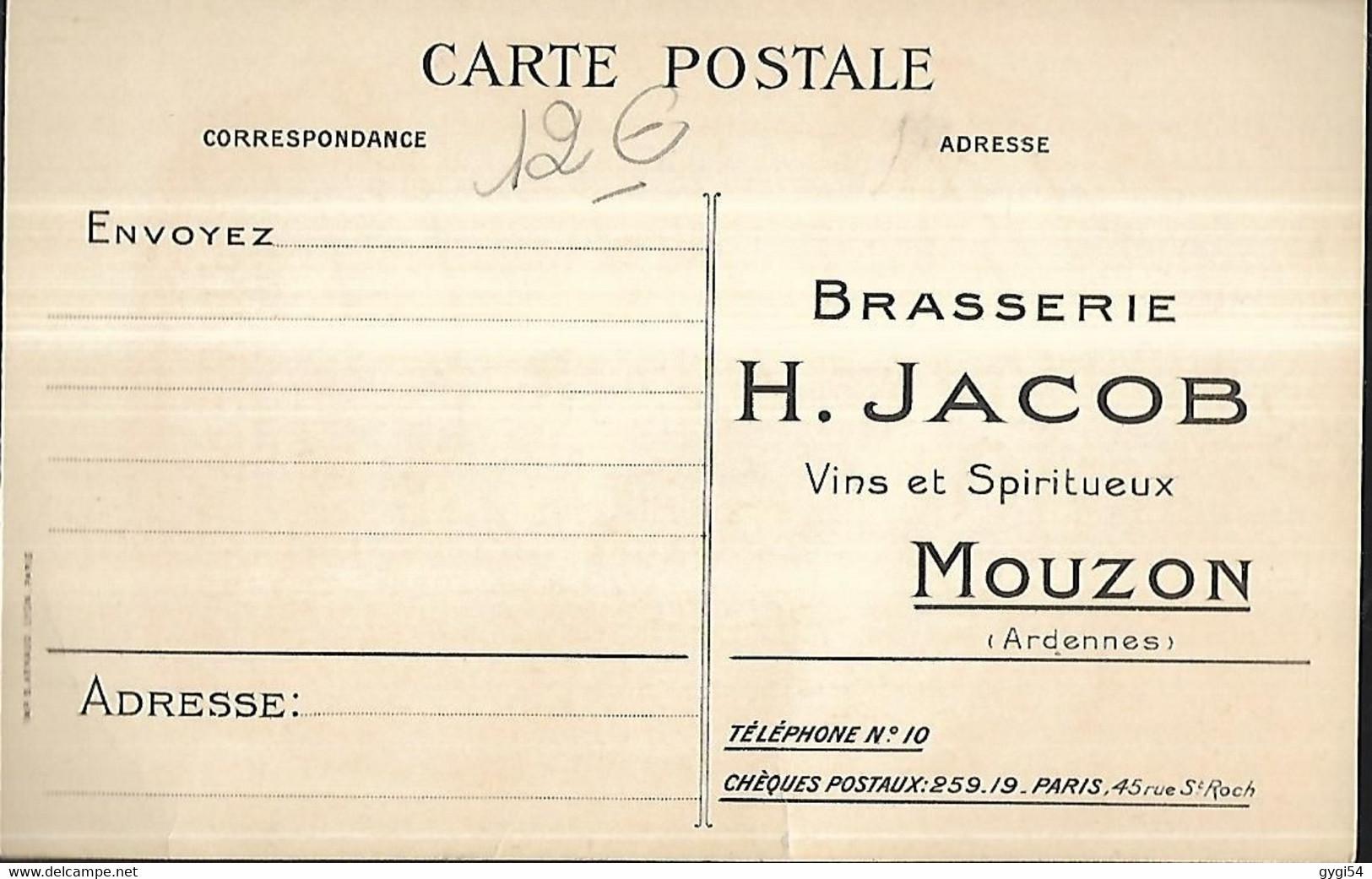 Brasserie De Mouzon  Vins Et Spiritueux        ( Ardennes  ) Rozoy &  Jacob - Advertising