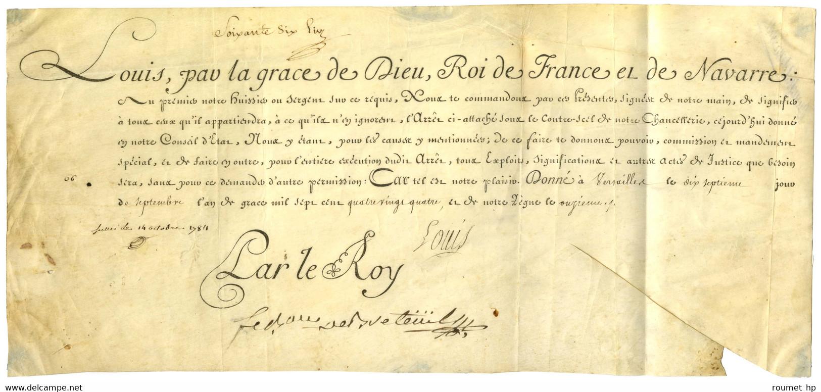 LOUIS XVI (1754-1793), Roi De France. - Autographs