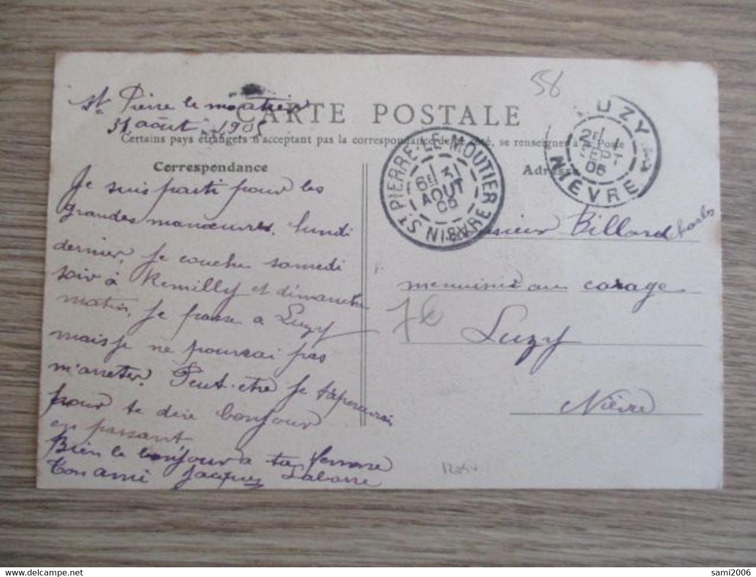 58 SAINT PIERRE LE MOUTIER PLACE DE LA REPUBLIQUE ANIMEE - Saint Pierre Le Moutier