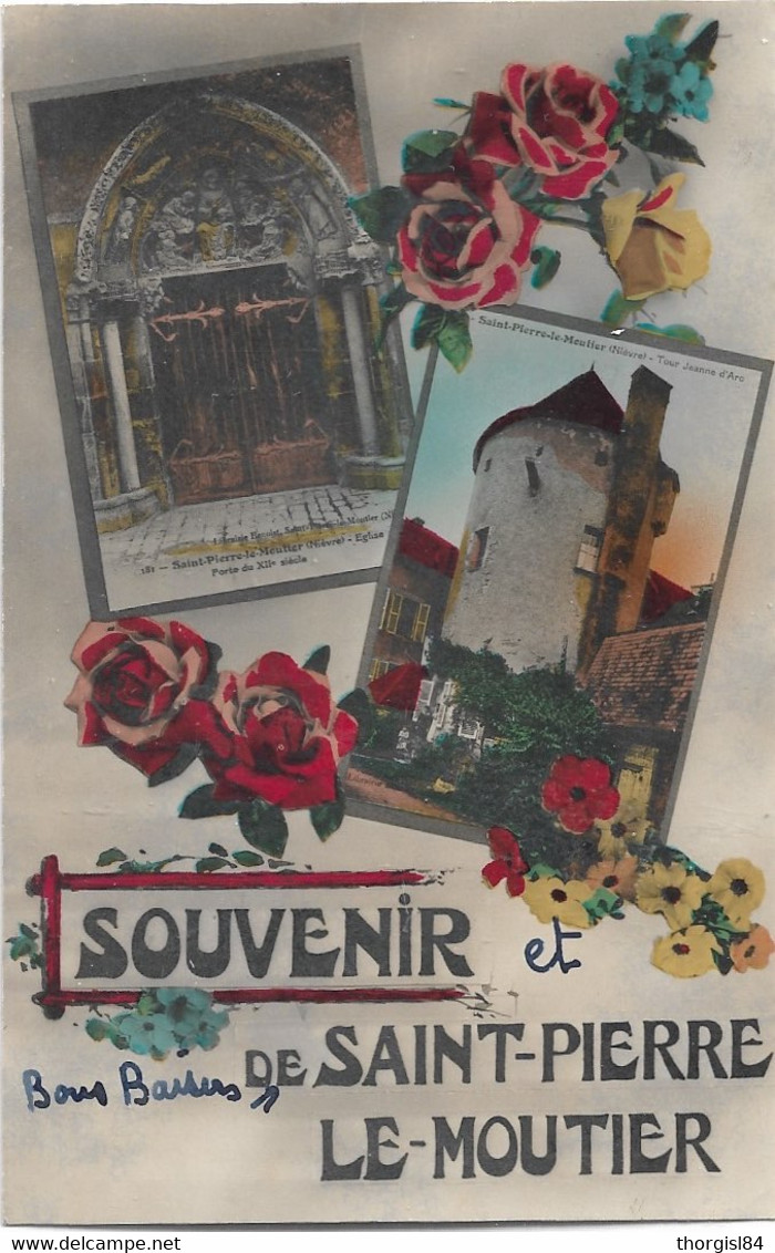 $ RARE $ 58 - SAINT PIERRE LE MOUTIER Souvenir De écrite - Saint Pierre Le Moutier