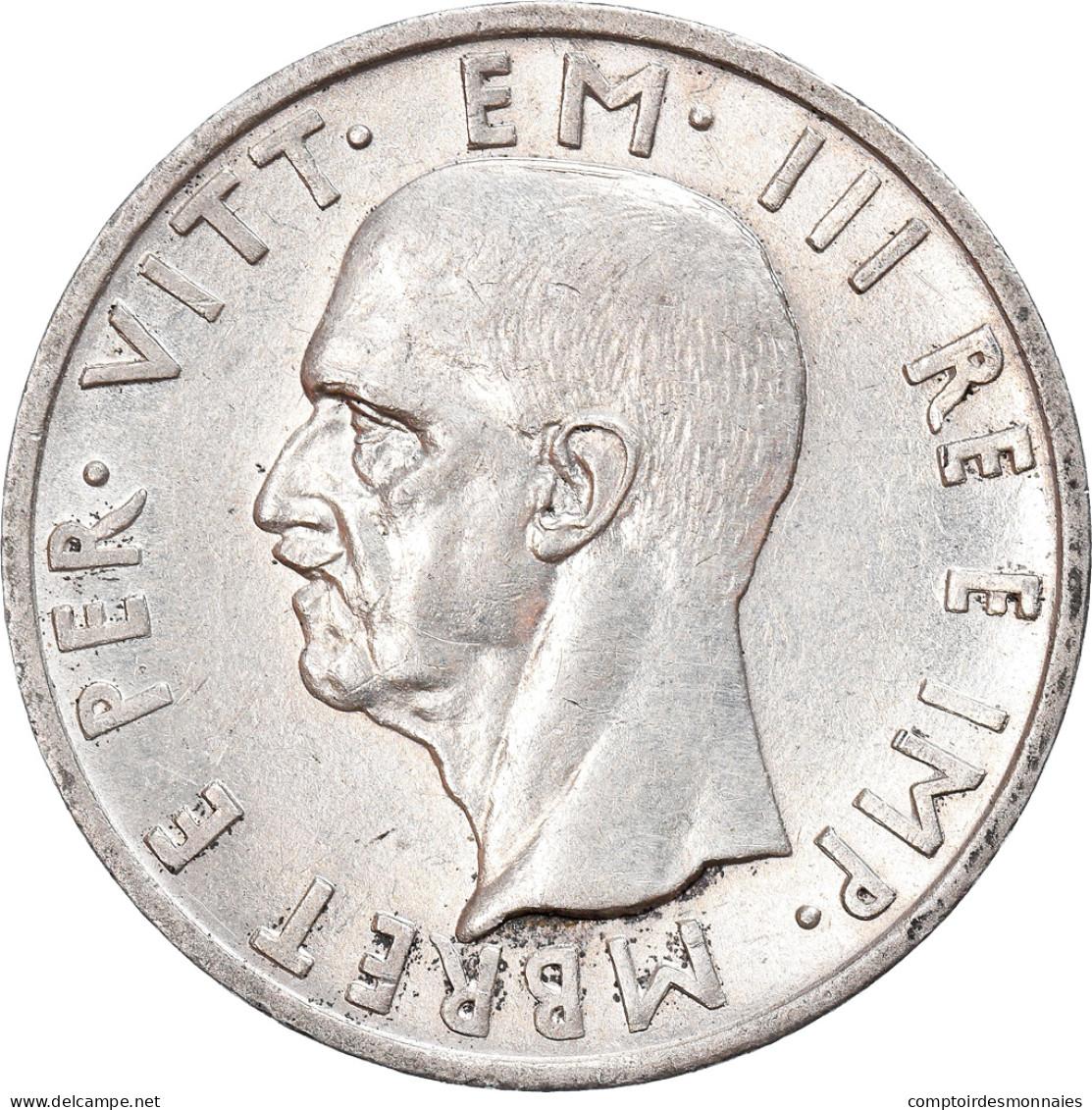 Monnaie, Albania, Vittorio Emanuele III, 5 Lek, 1939, Rome, SUP, Argent, KM:33 - Albania