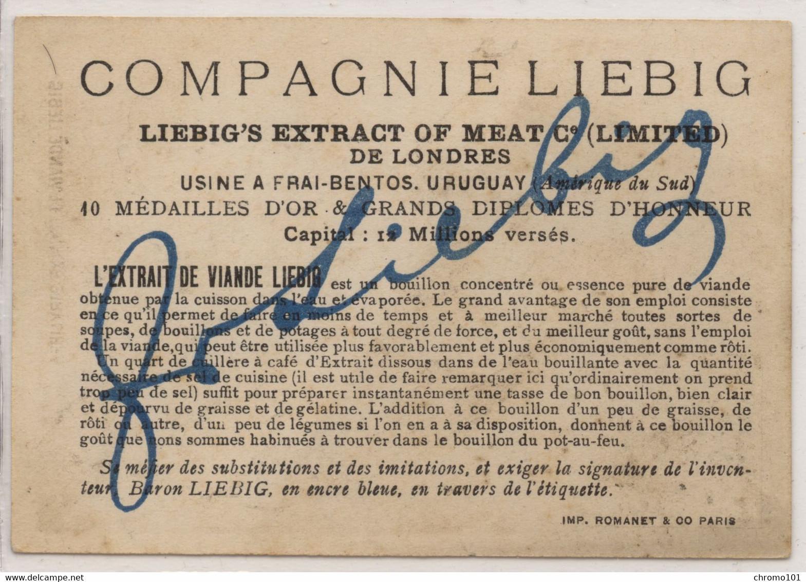 Compagnie Liebig: Bergeronnette Fond Doré (particularité) - Liebig