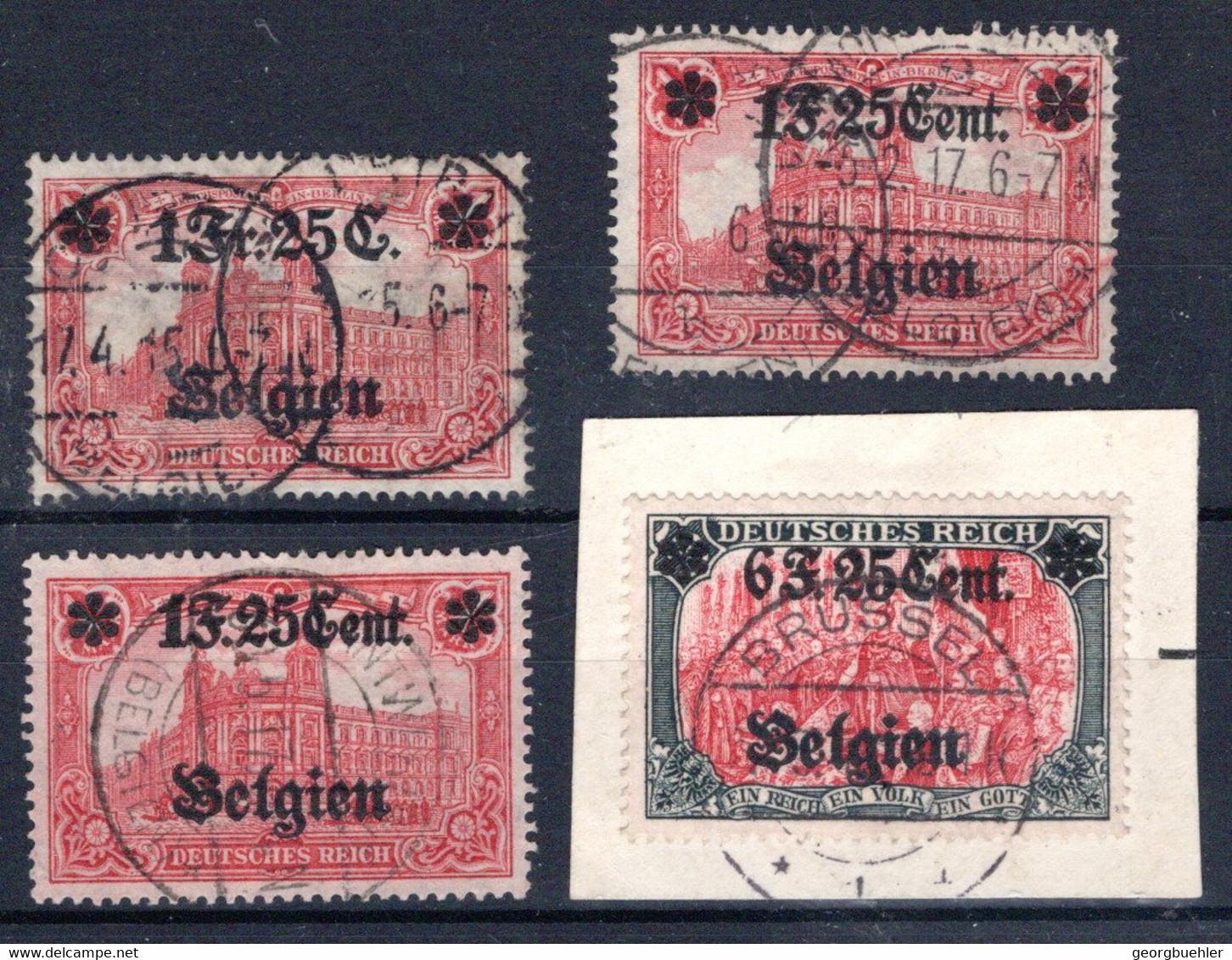 LANDESPOST IN BELGIEN, Michel No.: 23IA (2) USED, Cat. Value: 400€ - Occupation 1914-18