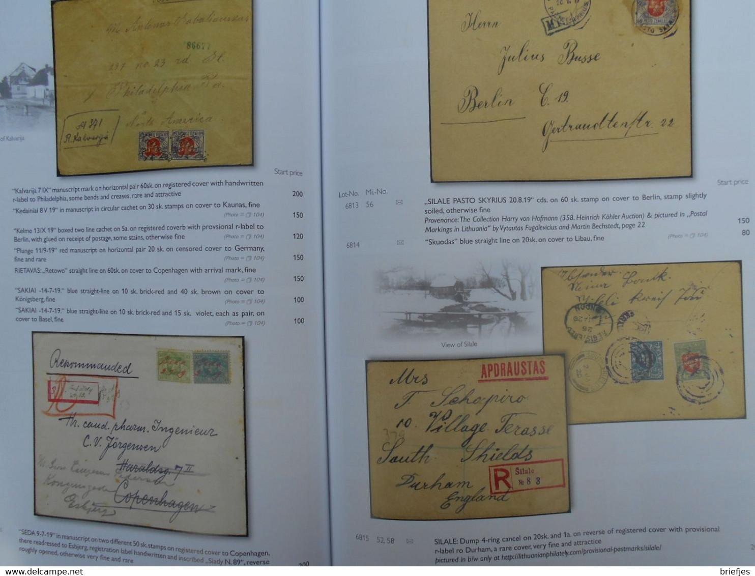 Baltic States The Dr. Matteo Lucibello Collection,  Auction Catalogue (126) - Lituania