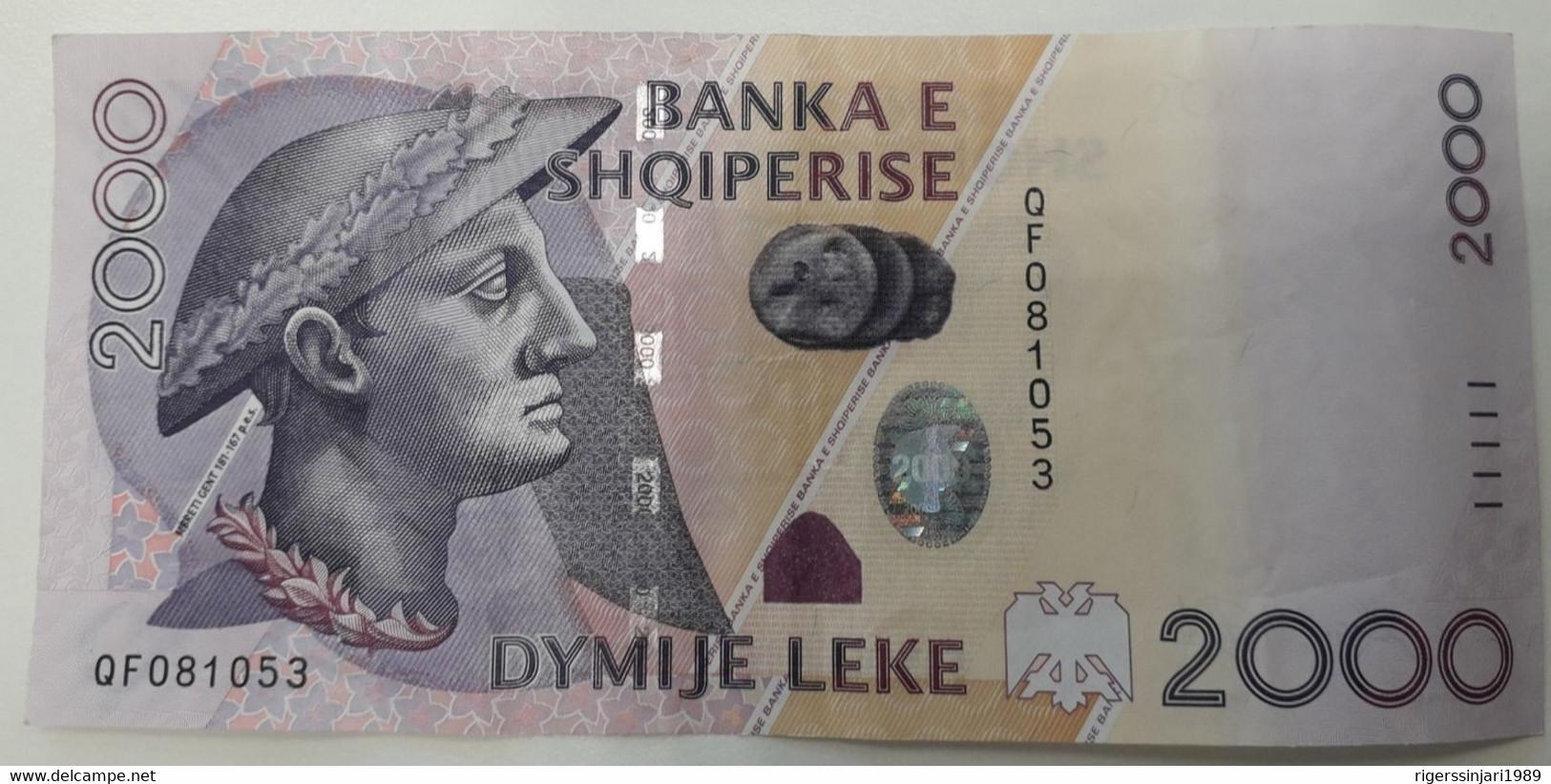 ALBANIA 2000 LEKE 2012 Banknote AUNC P# 74 - Albania