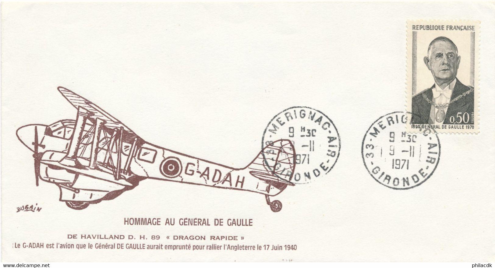 BEAU LOT FDC CARTES ENVELOPPES BLOCS TIMBRES DENTELES NON DENTELES GENERAL CHARLES DE GAULLE - De Gaulle (General)