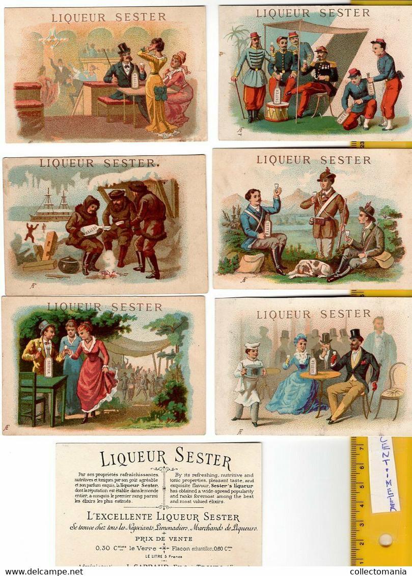 10 Cartes C1874 Printer Imprimeur F.  APPEL 3-c20 LIQUEUR SESTER - CARRAUD Troyes10,8 X 7,2cmboison Alcohol RR - Other