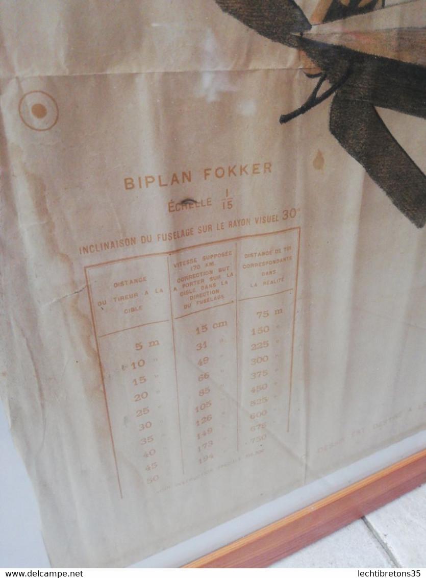 14 18 Doc Original Décembre Entraînement Tire 1917 Biplan Fokker Ech 1/15 Avion Allemand Cible Guerre Mondiale Ww1 Armée - Historical Documents