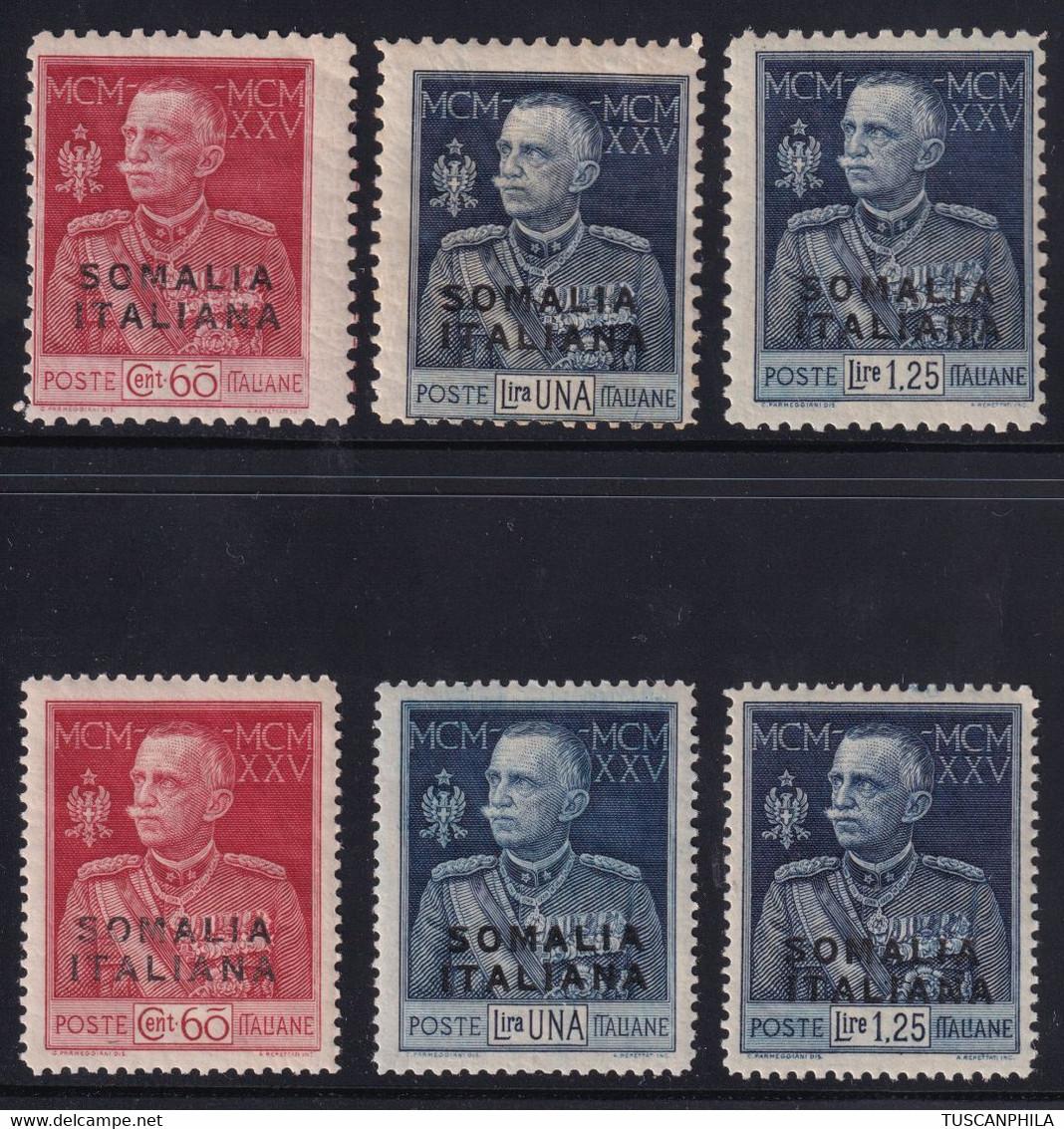 Somalia Giubileo Del Re 1925 Serie Complete Sass. 67/72 MNH** Firmati Cv 4850 - Somalia