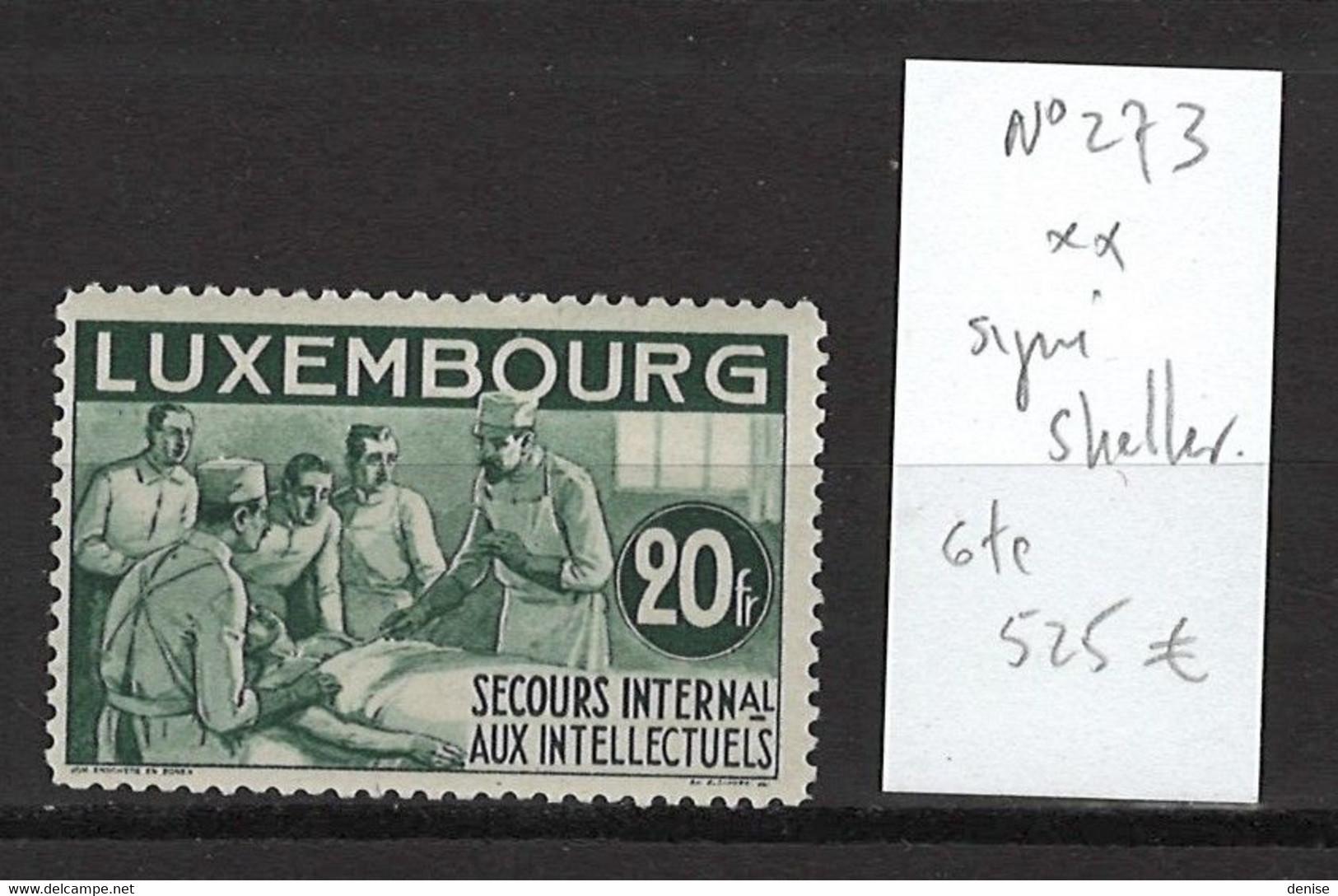 Luxembourg - Yvert 273** - 20frs Secours Intellectuels - DEPART 1 EURO - SIGNE SCHELLER - Nuovi