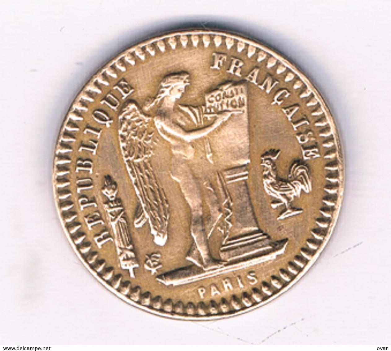 20 FRANCS 1898-RARE- TOKEN FRANKRIJK /5942/ - Unclassified