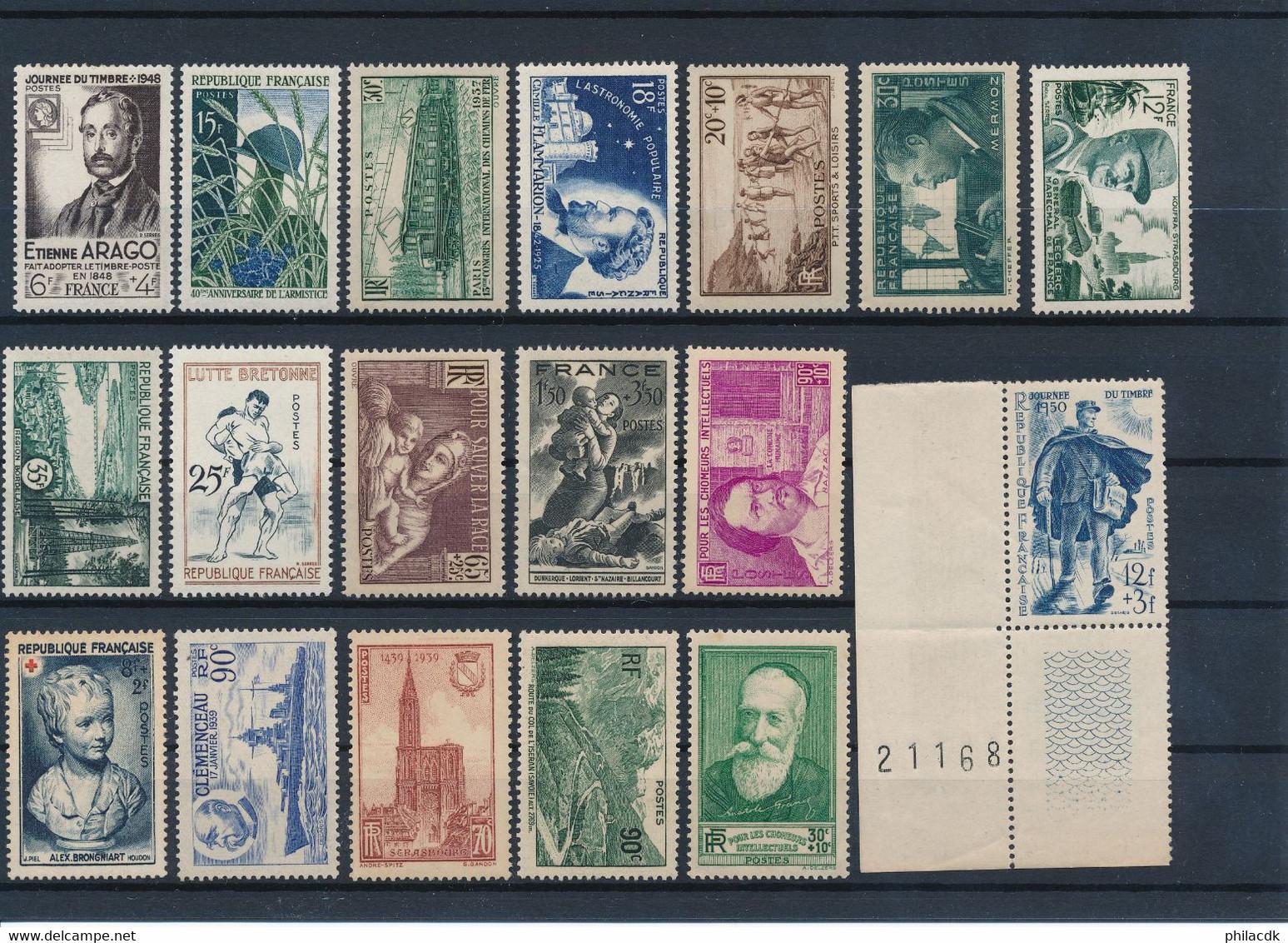 FRANCE - BEAU LOT DE 423 TIMBRES NEUFS** SANS CHARNIERE - VOIR SCANNS - Collections