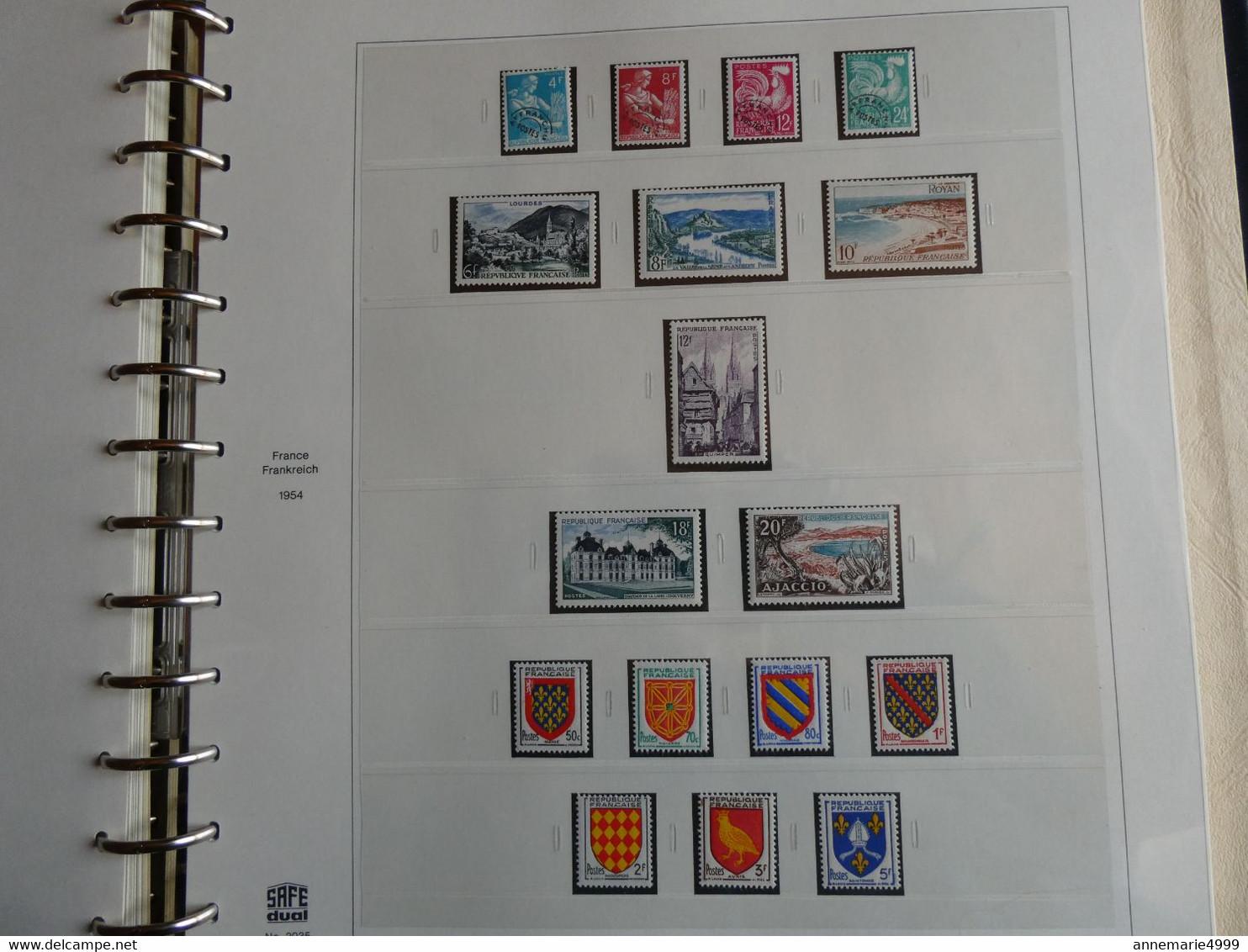 FRANCE Collection 1950 à 1959 Complète Neufs Sans Charnière Cote Plus De 1400 € - Collections