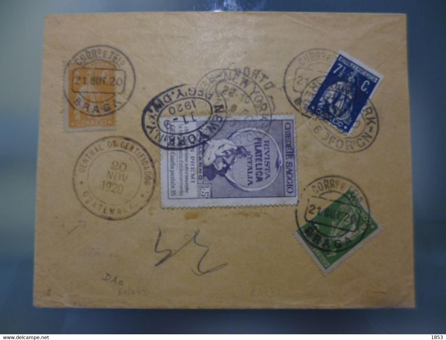 TIPO CERES - REGISTO DE BRAGA COM DESTINO GUATEMALA - Covers & Documents